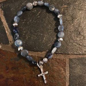 New Avon Dangle Cross Bracelet